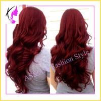 Wholesale 8A Brazilian Virgin Hair Two Tone b Red Ombre Full Lace Human Hair Wigs Wavy Glueless Lace Front Wig Ombre Lace Wigs Body Wave