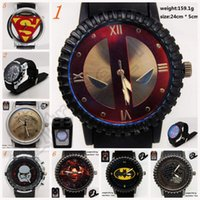 america digital - 10PCS LJJL139 Spider Man Wrist Watch Gift Stainless Steel Mens Batman Electronic Captain America Wrist Watch