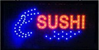 Wholesale 2016 hot sale X19 inch indoor Ultra Bright flashing led Sushi display sign led open sign