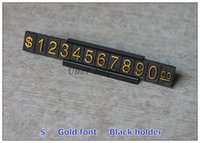Wholesale Price Display ABS Plastic Price Tag Gold sets