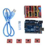 Wholesale Arduino CNC kit CNC Shield V3 uno R3 a4988 driver GRBL compatible B00084 FSDH