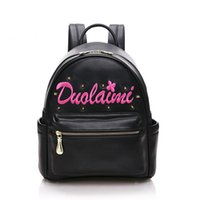 alloy books - New Korean style women leather backpacks fashion rivet embroidery girl student satchels book bags travel shoulder bag