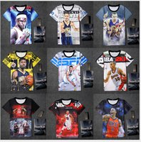 basketball pictures free - fashion d t shirt boys men Basketball star pictures print short t shirt s xxl size