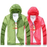 Wholesale Transparent Waterproof Sun Protective Womens Mens Hiking Jacket Camping Running Fishing Quick Drying a0183DTAE