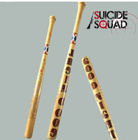 Wholesale Batman Arkham Asylum City Suicide Squad Harley Quinn Weapon Costume Cosplay original edition solid wood Quinn baseball bat