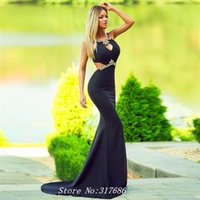 amazing designers - New Design Amazing Long Mermaid Evening Dresses Vestido de Festa Custom Made Gown Open Back Crystals Black Prom Dress