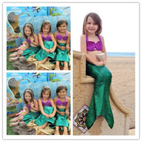 ariel cosplay - Halloween Costume Kids Swimming Suit Mermaid Tail Princess Ariel Costume for Girl Dress Swimming Suit Cosplay