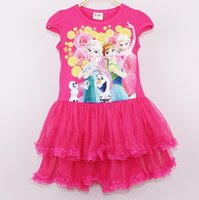 Wholesale Children s clothing trade skirts frozen cotton gauze dress Princess Dress Girls Dress children and new dresses