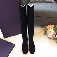 b charmed - Best quality thigh boot black pashm item sheepskin inside Cylinder height cm heel high cm wear so soft comfortable luxury