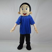 baby athletic wear - 2016 Easter Little Boy Mascot Costume Lad Spadger Baby Boy Cartoon Clothing Wearing Blue T shirt Mascotte Fancy Dress Party