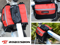 Wholesale Large size mm bike bag mountain bike bag Bicycle Mountain Bike Cycling Sport Frame Pannier Front Tube Double Bag Pouch