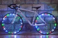 Wholesale 20 LED Bicycle Lights Mountain Bike Light Cycling Spoke Wheel Lamp Bike Accessories Luces Led Bicicleta Bisiklet Aksesuar