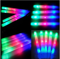 Wholesale new LED Colorful rods led foam stick flashing foam stick light cheering glow foam stick foam led