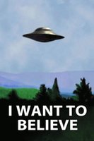 art ufo - 24x36inch UFO The X Files I Want To Believe TV Poster Art Silk Wall Decor