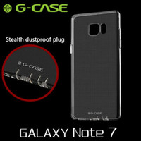 Wholesale New G CASE Stealth Dustproof Plug Design Drop Resistant Postage Free Ultrathin Transparent TPU Case For Galaxy Note