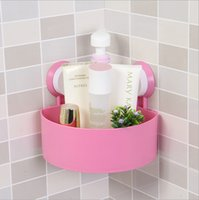 bathroom toilet shelves - Storage rack triangle strong sucker bathroom shelf toilet shelves wall mounted type kitchen commodity shelf with strong suctionStorage rac