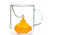 Wholesale 2016 New Design Creative Home Yellow Silicone Submarine Infuser Model Tea strainer For Drink Tea or Coffee Tool