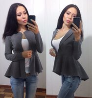 american cut suit - New version of the European and American autumn fashion Slim small suit woolen jacket YSY01