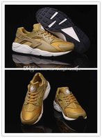 Wholesale 2016 New Air Cheap Huarache Running Shoes For Women And Men Brand Breathable Huaraches Tyrant gold couple shoeTrainers Eur Size