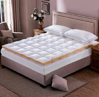 Wholesale 120 cm cm white Goose Down quilted Mattress Topper with Straps home furniture for home Five Star Hotel fast Shipping
