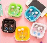 apples ear buds - Universal Earphone Headphone Ear Buds Fashion Earphone MP3 MP4 FM phone gift colorful earphone with retail box