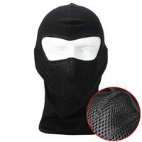 Wholesale Black Breathable Dustproof Balaclava Ninja Tactical SWAT Cycling Motorcycle Airsoft Paintball Outdoor Hats Helmet Full Face Mask