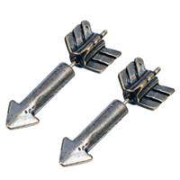 baby earring backs - 1pcs D Nice Bijoux Fake Gauge Earrings Rockets Studs Fire Arrow Studs Faux Plug Jewelry for Lovers Women Men baby earrings GiftS