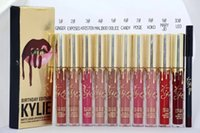 best pencil brand - 2016 new best selling brand make up golden kylie jenner lipgloss lip pencil set birthday gift kit kylie colors