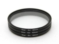 Wholesale 52mm X X X Point Star Cross Screen Three Piece Filter kit for Nikon Canon Lens