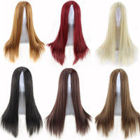 average heat - Cheaps women wigs long straight carve hairstyle wig blonde heat resistant synthetic wigs black natural cheap hair wig new arrival