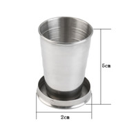 Wholesale 75 ML Stainless Steel Portable Outdoor Travel Camping Folding Collapsible Cup