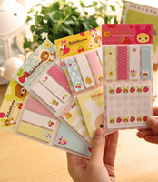 Wholesale C39 Kawaii Rilakkuma Planner Sticker School Supplies Stationery Sticky Notes Memo Pads Notepad Post it Papelaria Filofax Papel