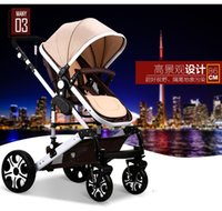 aluminium trolley - High landscape sleeping basket style infant trolley baby car child lathe can be sitting down and folding Aluminium alloy