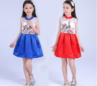 american girls names - new girl dress name family style wind embroidered children s dress original children s new year princess dress factory direct sales