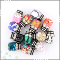 beautiful polish - 13 Colors Turquoise Drip Tip Beautiful Tophus Stone Drip Tips Double Rings Polishing for RDA RBA Atomizers DHL Free