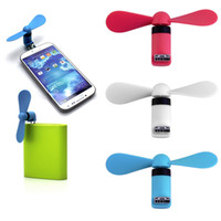 Wholesale 2 in Universal Portable OTG Mini Micro USB Large Wind Cooling Fan For Android Phone Desktop Laptop Xiaomi
