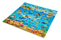 Wholesale Baby Play Puzzles Ocean Words Mats Waterproof Corrosion Resistant Anti Bact Climb Blanket Creeping Puzzle Pad Crawling Mat for Early Kids