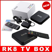 Wholesale 10pcs RK8 Octa core Android5 Smart TV BOX RK3368 TV Box GB GB H Bluetooth WIFI XBMC Helix Support RJ45 HDMI vs MXQ MXIII