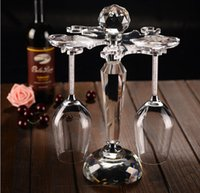 Wholesale High grade wine glass holder artificial crystal Glass rack cup holder Decoration hanging goblet rack