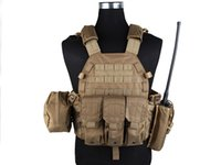 Wholesale LBT6094A Style tactical Vest with Pouches Airsoft EMERSON Gear Painball Army Combat Gear Coyote Brown