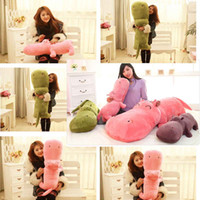 Wholesale 1 piece large size cm hippopotami doll sleeping pillow cute super large stuffed plush toy cloth doll baby child birthday gift