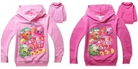 Wholesale Shop Fruits Family Girls Hoodies Shop World Cartoon Hooded Tshirts Top Quality Kids Spring Autumn Long Sleeve Hoodies Kids Casual Clothes
