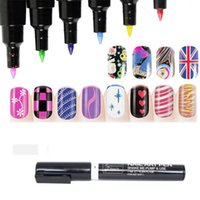 Wholesale 16 Colours Nail Art Pen Painting Design Tool Drawing for UV Gel Polish Manicure