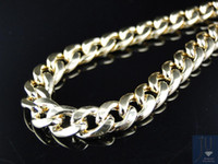 Wholesale 10K Solid Yellow Gold Curb Cuban Diamond Cut Mens Chain Necklace mm Inches