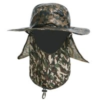 Wholesale 2016 new top army Tactical Hiking Mens Boonie Hats topee Outdoor Fishing Insect Proofing Camouflage Bucket Hats One Size for