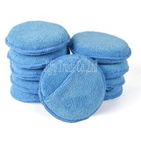 Wholesale 10 Pack quot Diameter Soft Microfiber Car Wax Applicator Pads Polishing Sponges with pocket for apply and remove wax