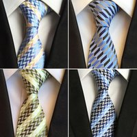 Wholesale New Design Hand Made Jacquard Woven Silk Mens Ties Neck Tie cm Striped Ties for Men Business Suit Wedding Party