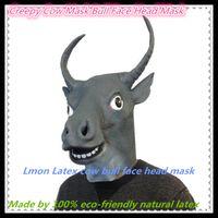 adult bull costume - Creepy Cow Mask Bull Head Mask Creepy Animal Halloween Costume Theater Prop Novelty Latex Rubber Funny Bull Mask