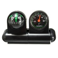 adhesive thermometer - Brand New Removable Car Auto For Compass Thermometer Adhesive Black Van Truck Vehicle