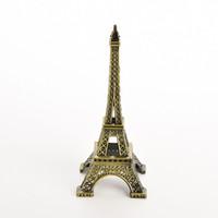 aluminum sculptures - 18CM Eiffel Tower Statue Sculpture Paris Decor Metal Wedding Supplies Ornament Meaningful birthday gift
